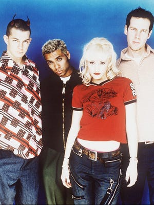"""The band No Doubt is seen in a 1997 handout photo. The same year, the band recorded its cover of the Vandals' holiday song, """"Oi to the World."""""""