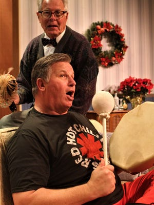 """Daniel M. Hall (front) and William Floyd in """"Making God Laugh"""""""
