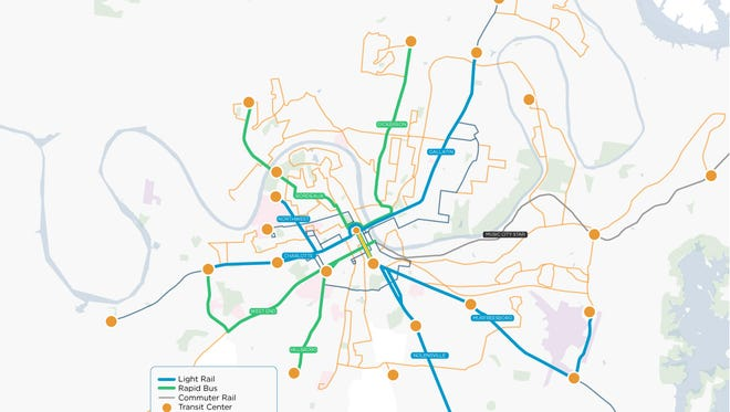Under Nashville's transit plan, light rail would go on Gallatin, Murfreesboroand Nolensville pikes, Charlotte Avenue and a Northwest corridor that would go through North Nashville. All five lines would be completed by 2032, beginning with Gallatin Pike in 2026.