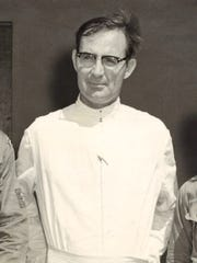 Father Louis Brouillard is shown in an undated photo from the Pacific Daily News archives.