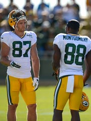 Green Bay Packers receivers Jordy Nelson (87) and Ty