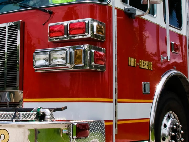 The Reno Fire Department responded to a fire on Radford