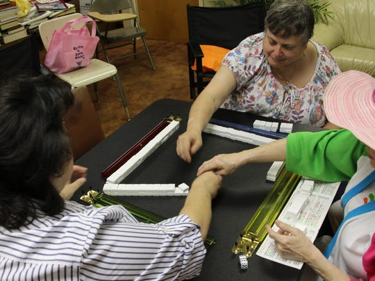 Mah jongg players enjoy a game on Sunday, Sept. 27, 2015, at White Meadow Temple in Rockaway.