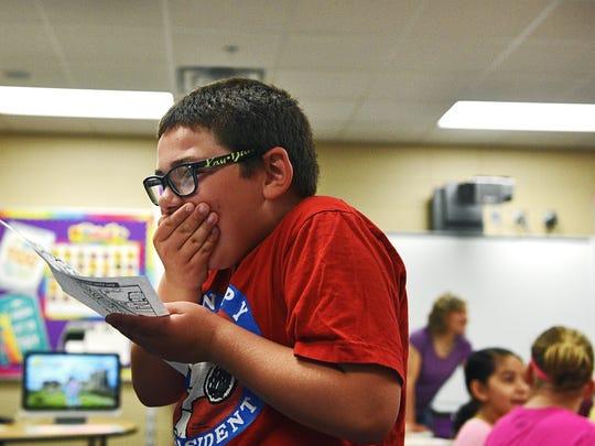 Harrisburg Endeavor Elementary School third-grader