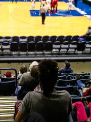 Destanni Henderson watching South Carolina play in