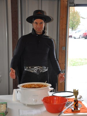 Zorro (Jarrod Kulp) entered Gravel Hill's ChiliFest in 2012 with an award-winning recipe. Kulp will be competing in ChiliFest 2016, as well.