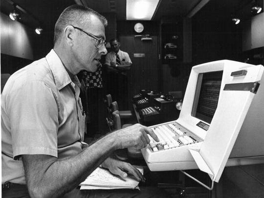 Don Bolles at work as a reporter.