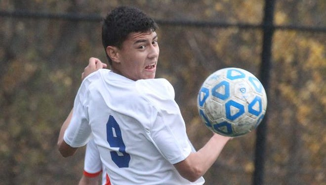 Mamaroneck beat Port Chester 0-0 ( 5-3) on penalty kicks in a Class AA boys soccer semifinal at Purchase College Oct. 29, 2014.