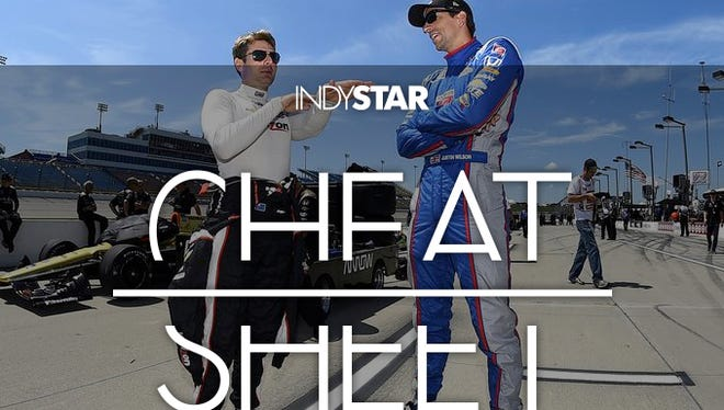 IndyCar driver Justin Wilson (right).