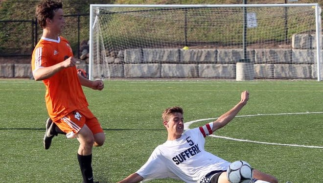Mamaroneck beat Suffern 2-1 during the Westchester vs. Rockland Challenge boys soccer matches at World Class Soccer Complex in Orangeburg on Monday.