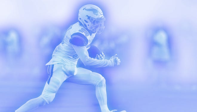 A photo illustration of a Parkview High School football player