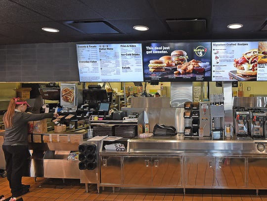 The front counter and cooking area have a new look
