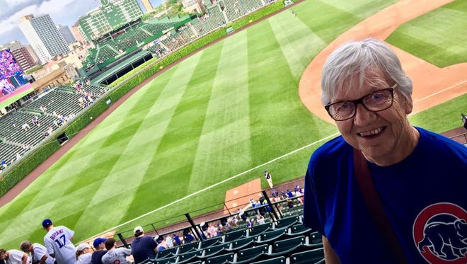 Ann Palormo visited Wrigley Field in Chicago in May 2016, home of her beloved and now World Series champion Chicago Cubs.