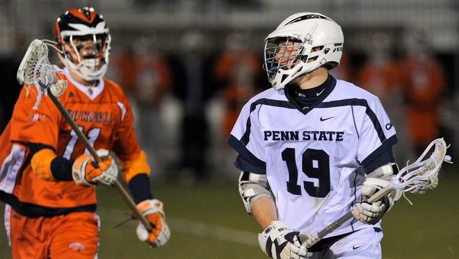 Chris Hogan playing lacrosse at Penn State.