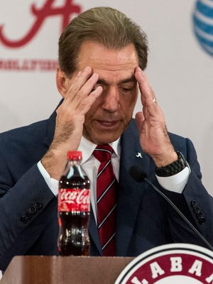 Alabama football coach Nick Saban.