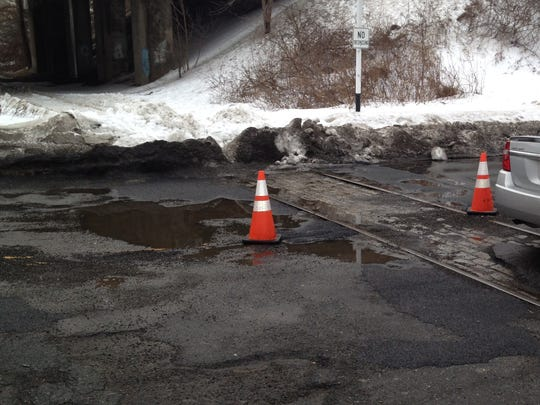 The railroad crossing on Morris Avenue near the intersection of Green Pond Road in Rockaway Township was the winner of last year's Daily Record informal poll naming the worst pothole spot in Morris County.
