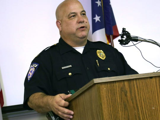 Ashland police Chief David Marcelli speaks during a press conference about two bodies found in a house on Covert Court.