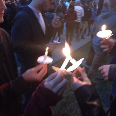 FSU students attended a candlelight vigil for the victims