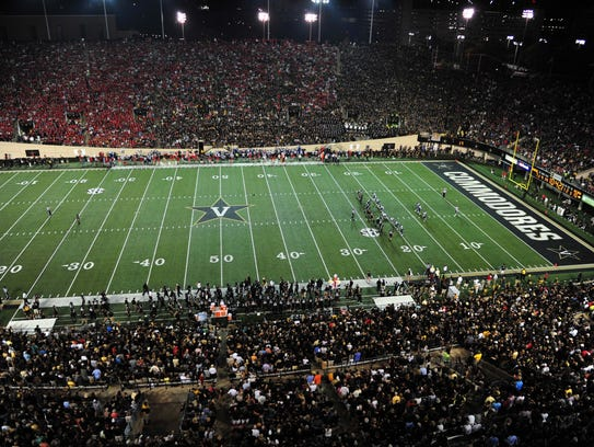 A general view of Vanderbilt Stadium during a game