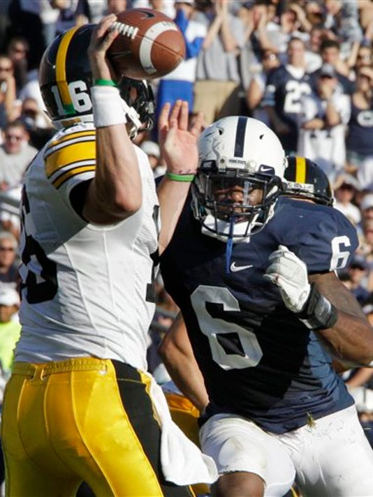 Penn State linebacker Gerald Hodges leads Penn State with 58 tackles this season.
