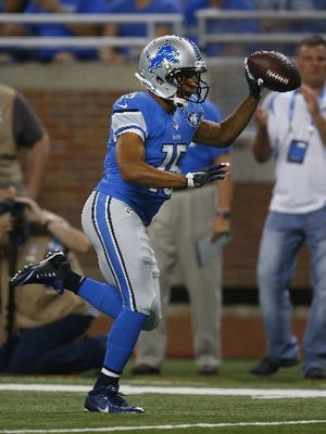 Receiver Golden Tate had a career year in his first season with the Lions.