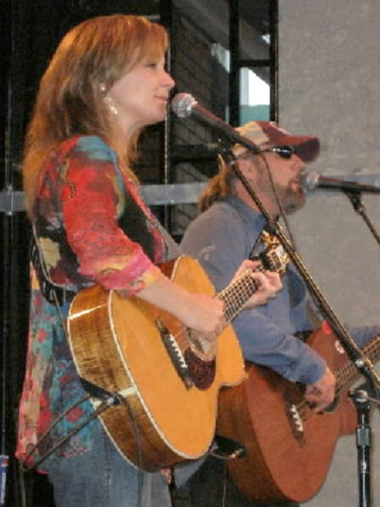 Heather Sneeringer and Dave Huxta join forces in Copper Sky. Sneeringer also teaches music and works at a local studio.