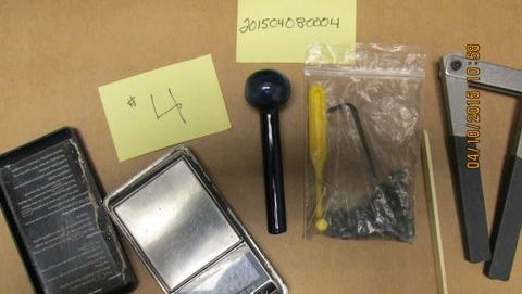 Items from a Thursday drug bust in Waynesboro.