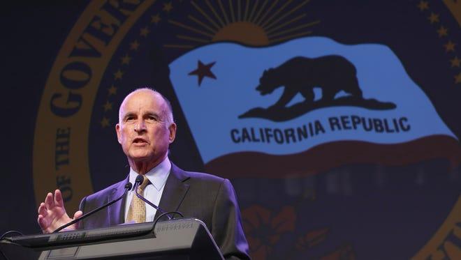 California Gov. Jerry Brown.