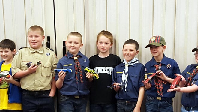 Deming and Silver City Cub Scouts of the Yucca Council, which governs the southwestern portion of New Mexico, recently held its Pinewood Derby race at the Church of latter-Day Saints, 1000 W. Florida St. The Silver City and Deming Scouts share activities in an atmosphere of goodwill and comaraderie. The race competitors were, in no particular order: Liam Wheeler, Dace Begay, Esteban Lopes, Isaac Lopez, David Jones, Daran Krol, Laz McCauley, Michael Marrage, Jackson Sullivan, Lane Porter, Brennan Tedford, Anson Beck, Anson Ceja and Isaac Beck.
