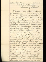 Incoming correspondence of Gov. Urban Woodbury, who was Vermont's chief executive in the 1890s.