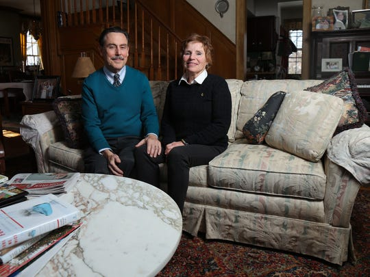 Michael L. Dourson, left, who was nominated by President Trump to oversee the Environmental Protection AgencyÕs chemical safety programs, alongside his wife, Martha, are pictured at their home in Northside, Thursday, Jan. 18, 2018.