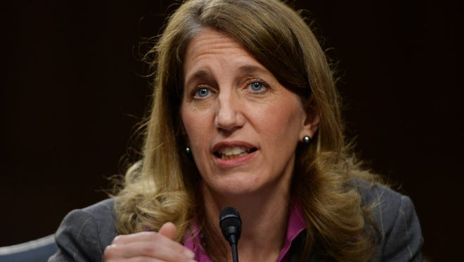 Sylvia Mathews Burwell, of West Virginia, testifies before the Senate Committee on Finance regarding her nomination as Secretary of Health and Human Services. She has said she would work to reduce Medicare fraud.