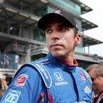 Justin Wilson (25) of Andretti Autosport looks down the pit road following his qualification attempt for the 99th Indianapolis 500 Sunday, May 17, 2015, morning at the Indianapolis Motor Speedway.