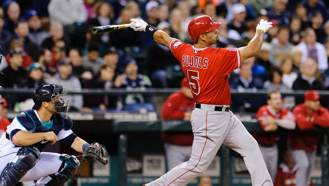 The Angels' Albert Pujols is four homers away from becoming the 25th player to reach 500.