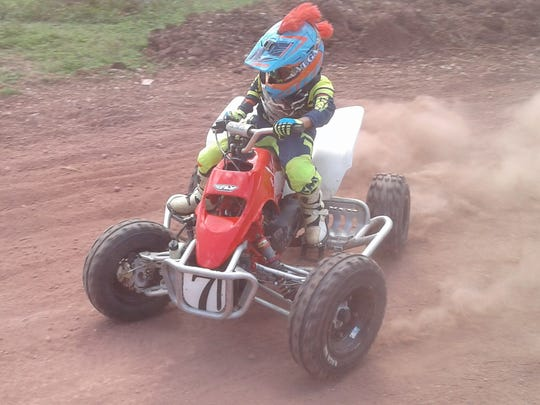 No. 71 Valance Minor came in second at the 65cc Kids Minibike class.