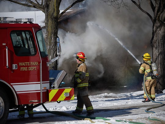 A fire that started in a camper spread to the garage,