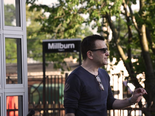 David Silberberg, a commuter, at the Millburn train