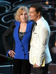 Kim Novak,here with Matthew McConaughey at the Oscars,