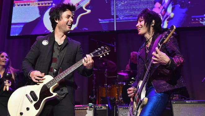Billie Joe Armstrong and Joan Jett perform at the annual Little Kids Rock Benefit  on Oct. 23 in New York.