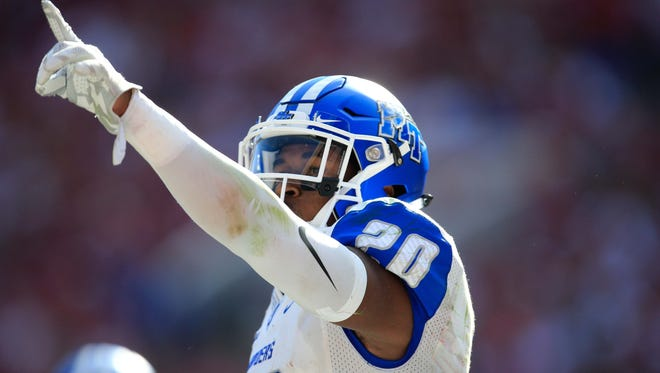 Safety Kevin Byard could be the highest selected player in the NFL Draft  from MTSU since Tyrone Calico in 2003..