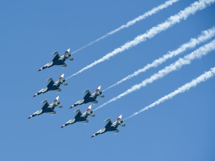 The Thunderbirds perform during the 2018 Ocean City