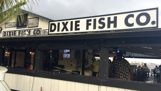 The historic Dixie Fish Co. building reopened in January as a waterfront restaurant, bar and live-music venue.