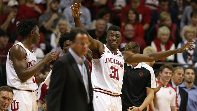 Thomas Bryant has three double-doubles in IU's first five games this season.