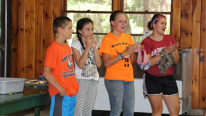 Members liven up a 4-H activity in Chippewa County.