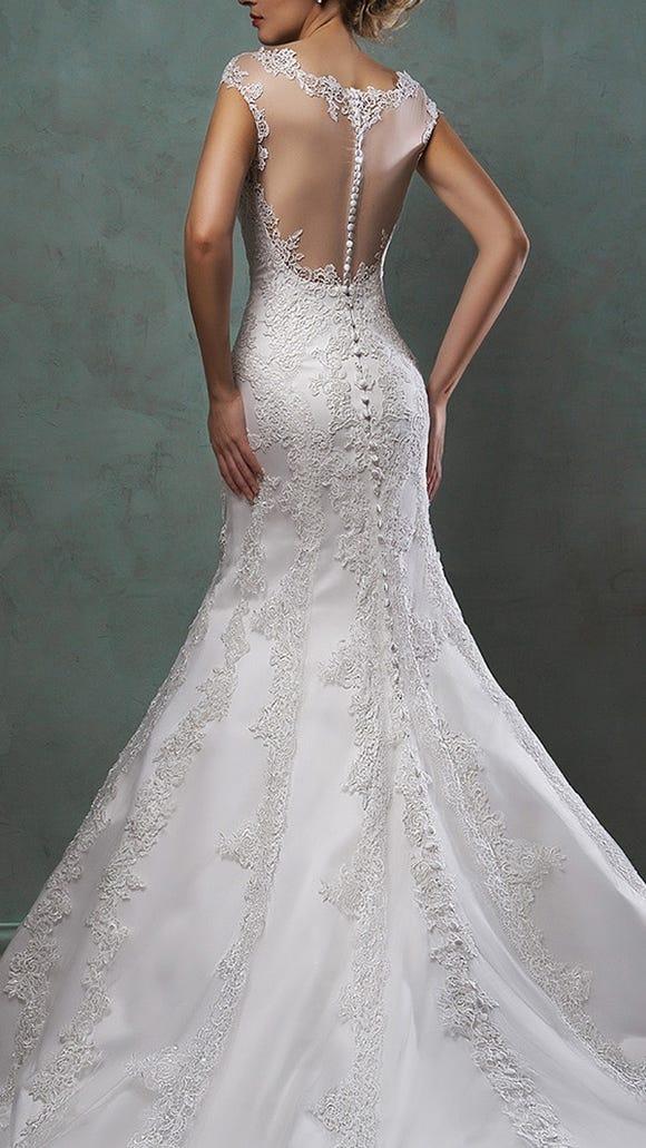 Wedding Dress Illusion Back