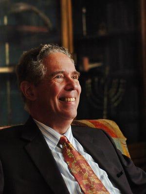 Rabbi Elliot Stevens at Temple Beth Or in Montgomery on Aug. 8, 2007. Stevens died of cancer on June 21.