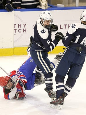 Pittsford's Brett Sauer (8) and Mitchell Haight combined