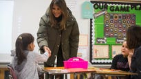 First lady Melania Trump visits Texas to bring attention to the Texas region that was first affected by mega-storm Hurricane Harvey.