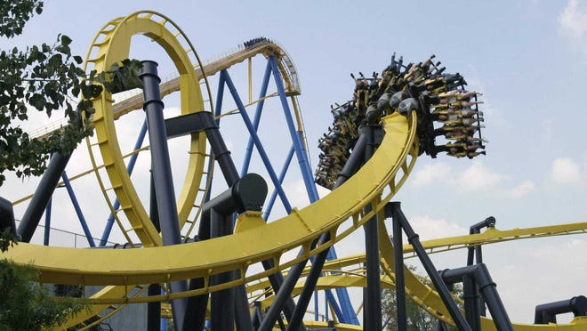 Batman: The Ride is among the coasters that will be operating during Holiday in the Park.