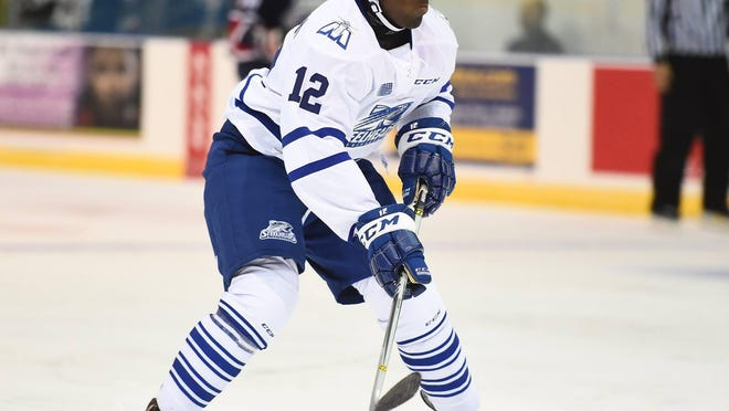 Marcus Dickerson had five points in his rookie season in the Ontario Hockey League.